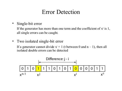 pattern generator and error detection new error detection