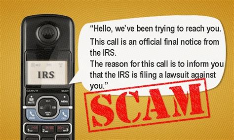 call irs phone number irs lawsuit phone scam it happened to us we malware
