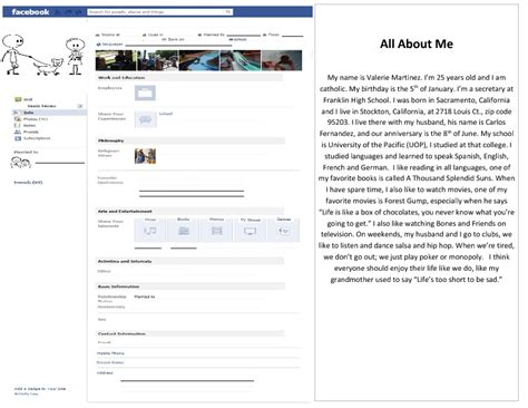 All About Me [Facebook Profile Template]