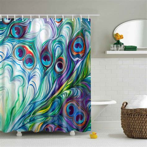 peacock feather shower curtain waterproof mouldproof peacock tail feather shower curtain