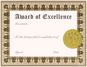 word award certificate template award certificate template word