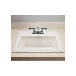 square drop in bathroom sink faucet 0700 004 020 in white by american standard