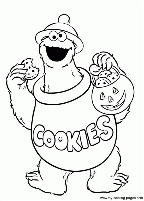 Cookie Monster Coloring Page - GetColoringPages.com Elmo Face Coloring Page