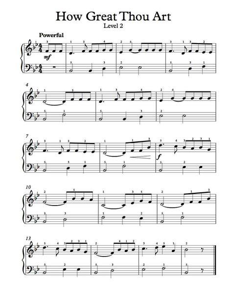 printable lyrics how great thou art piano music michael kravchuk