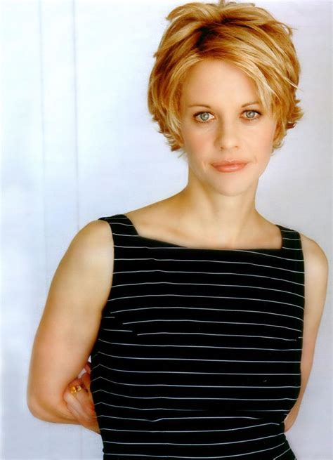 famous people with choppy bobs meg ryan hair photos from long layered hairstyles to her
