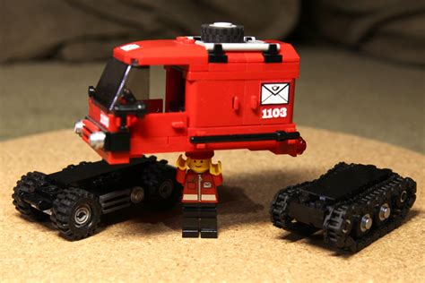 Lego Compatible Canon lego moc compatible chassis postal truck a photo on