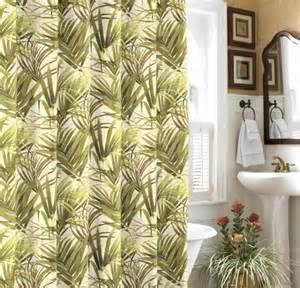 bahama tropical palms shower curtain