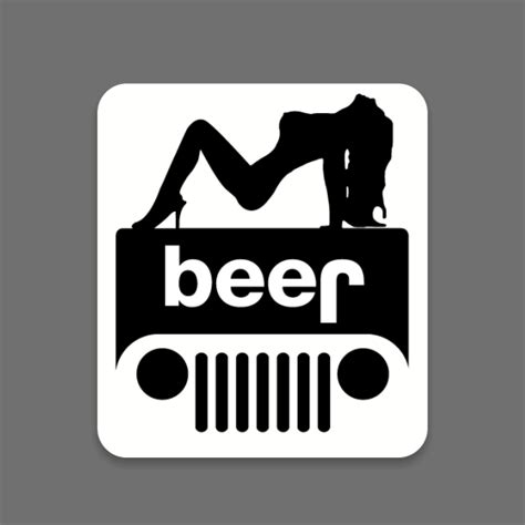 jeep beer beer jeep sticker