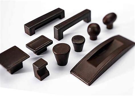 Leather Cabinet Knobs by Turnstyle Designs Leather Amalfine Cabinet Handles
