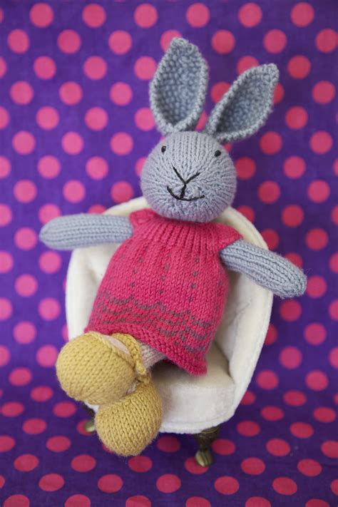 free knitting patterns for bunny rabbits knitted rabbit pattern