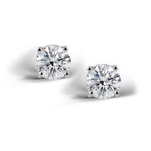 cubic zirconia stud earrings 925 silver 2ct cubic zirconia stud earrings 6mm ebay