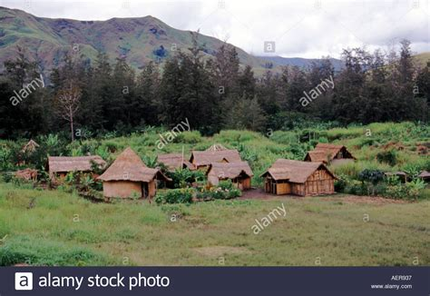 small villages small village in the ramu valley in the highlands of papua