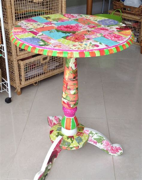 decoupage a table 25 best ideas about painted tables on
