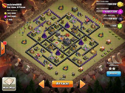 layout coc th9 anti giant th9 war base 4 mortars no xbows www pixshark com