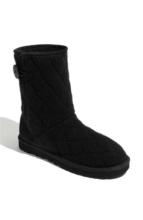 Ugg Quilted Boots ugg mountain quilted boot in black lyst