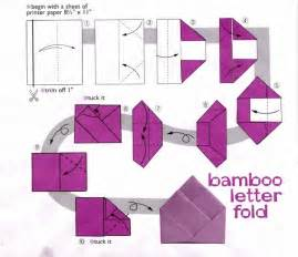 how to fold a4 paper into an envelope bamboo letter fold origata pinterest