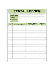 Rental Template by Rental Ledger Sle Template Free