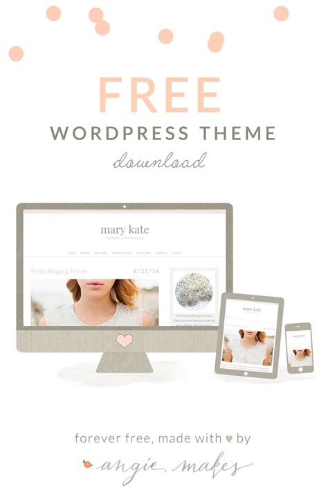 girly wordpress themes free feminine wordpress theme
