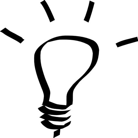 Light Bulb Outline Png by Lightbulb White Clip At Clker Vector Clip Royalty Free Domain