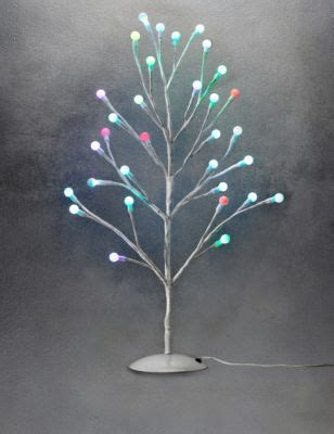 2ft cute colour changing ball christmas tree m s