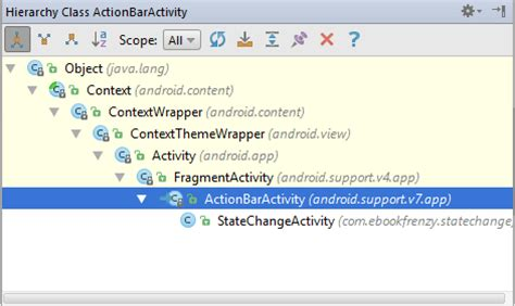 java why does android studio always show actionbar in handling android activity state changes in android studio