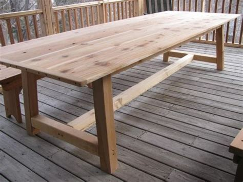 Large Outdoor Dining Table Handmade Large Outdoor Dining Table Cedar By Jeffbuildsfurniture Custommade