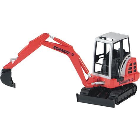bruder excavator bruder schaeff mini excavator imagine that toys