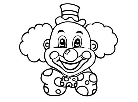 laughing clown head coloring page color luna