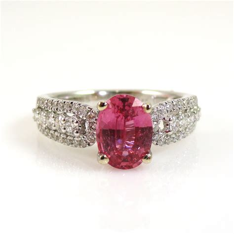 Blue Topaz 1 48 Carat 1 48 carat pink sapphire and ring in 14k white