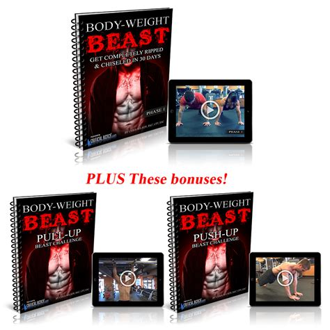 body beast without bench body weight beast mode workout pdf review