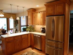 superb Kitchen With Stove In Island #5: rustic-pendant-lighting-feat-smart-wooden-kitchen-cabinet-design-idea-on-a-budget-plus-stainless-steel-appliances.jpg