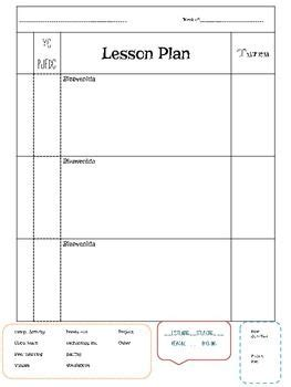 lesson plan template spanish 9 best images about lesson planning on pinterest summer