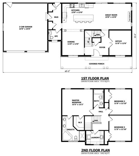 Plans For A 25 By 25 Foot Two Story Garage by Canadian Home Designs Custom House Plans Stock House