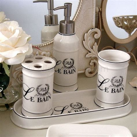 le bain 4pc bathroom set bliss and bloom ltd