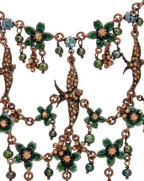 Dompet Wanita Import Branded Fossil Sydney Tab Green Asli Baru pilgrim design green blue topaz swarovski necklace earring set
