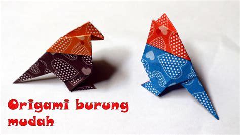 vidio membuat origami burung video origami burung kertas lipat mudah youtube