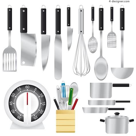 designer kitchen utensils 4 designer kitchenware vector material