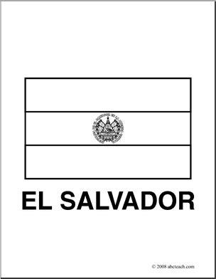 clip art flags el salvador coloring page abcteach