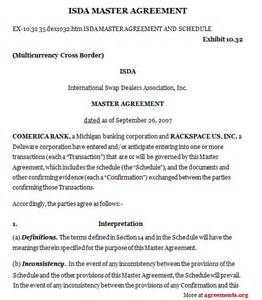 master contract template isda master agreement sle isda master agreement
