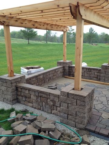 building a paver patio with retaining wall creative pergola designs and diy options