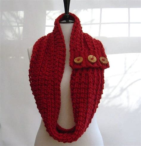 infinity scarf knitting pattern beginners knitting pattern infinity scarf cowl chunky button tab