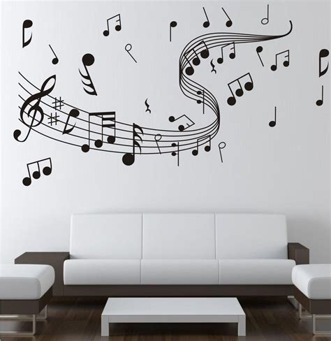 home studio wall design note music wall sticker 0855 music decal wall arts wall
