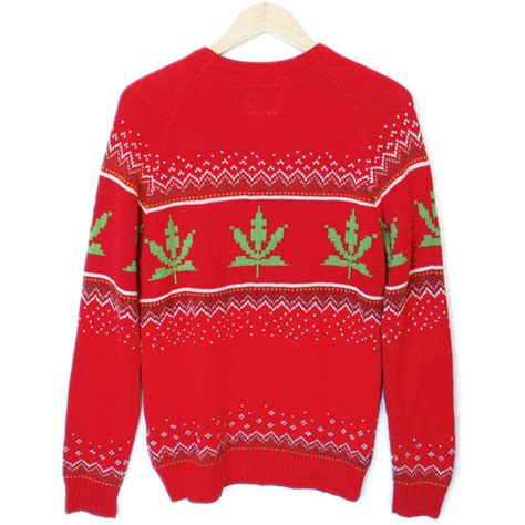 urban outfitters 8 bit weed sweater tacky ugly christmas