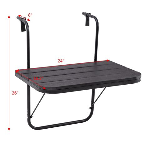 hanging balcony table ikea patio balcony hanging adjustable folding deck table