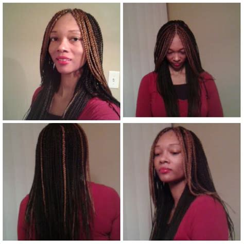 single braids with color part 3 changed color on layered single box braids