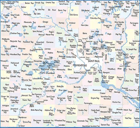 zip code map twin cities zip code for twin cities mn