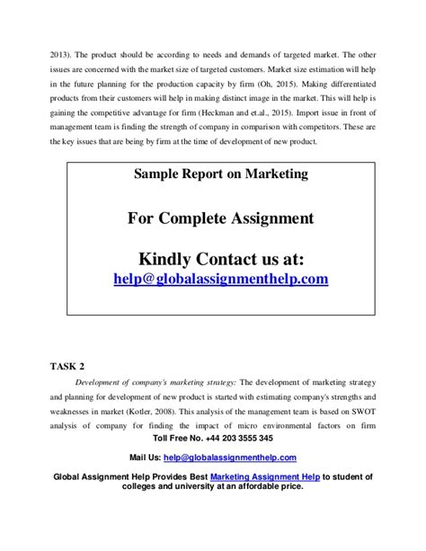 Marketing Plan Assignment For Mba by Marketing Plan Assignment Help