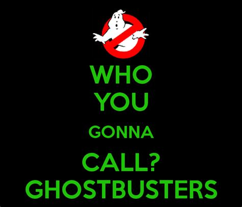 who you who you gonna call ghostbusters poster jules keep
