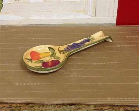 Kitchen Spoon Rest by Tuscany Grapes Fruit Wine Decor Kitchen Spoon Rest New Ebay