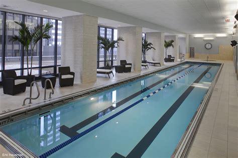 indoor lap pool chicago s aqua tower captures international condominium